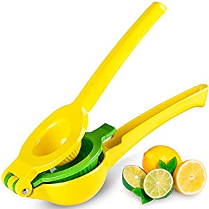 Top Rated Zulay Premium Quality Metal Lemon Lime Squeezer – Manual Citrus Press Juicer