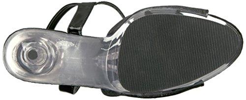 Pleaser DELIGHT-609-5G DEL609-5G Damen Sandaletten, Lack Schwarz, US 8