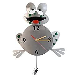 H & K Sculptures 6835CL Frog Pendulum Clock