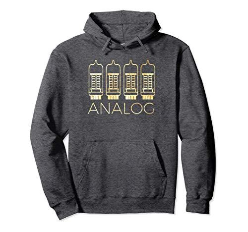 Unisex Analog Vacuum Tube Shirt, Vintage Gear Musicians T-Shirt Medium Dark Heather