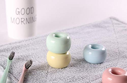 Toothbrush & Toothpaste Holders - 100pcs Creative Toothbrush Holder Multifunctional Candy Color Ceramic Tooth Seat Home Bathroom Brush - Phone Set Brush Stand Toothbrush Bathroom Resin Bathroom by rivalO (Image #4)