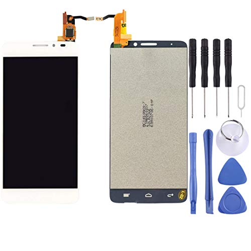 Huo Cell Phone & Accessories LCD Screen and Digitizer Full Assembly for Alcatel One Touch Idol X / 6040 / 6040A(Black) (Color : White) (Alcatel Idol X 6040 Screen)