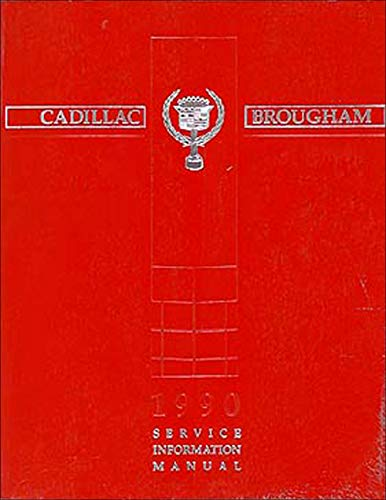 1990 Cadillac Brougham Repair Shop Manual Original