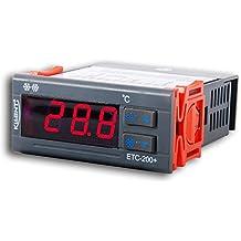 Temperature Controller, RISEPRO Mini Temperature Controller Thermostat Aquarium 120°C Incubator Refrigerator Homebrew ETC-200