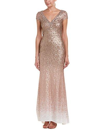 Marc Carmen Valvo Ombre Evening Bt Dress Sequined Womens 1PSBxU