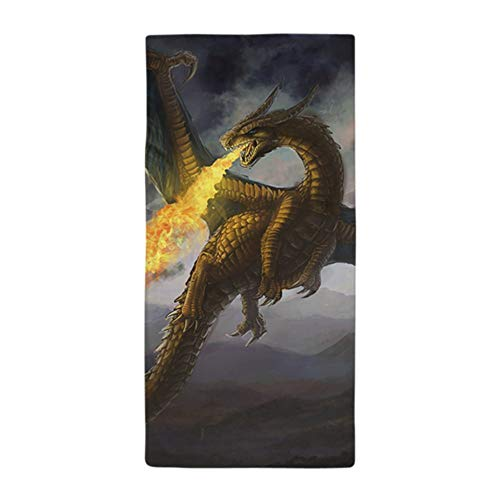 Dragon Design Beach Towel - CafePress Dragon Spiting Fire Large Beach Towel, Soft 30