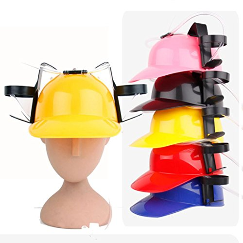 LtrottedJ New Exotic Beer & Soda Guzzler Helmet & Drinking Hat Novelty Gift Toys (Yellow)