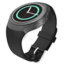 Gear S2 Watch Band, MoKo Soft Silicone Replacement Sport Band for Samsung Gear S2 (S2 SM-R720 / SM-R730 ONLY) Smart Watch, NOT FIT S2 Classic (SM-R732 & SM-R735), NOT FIT Gear Fit2, BLACK