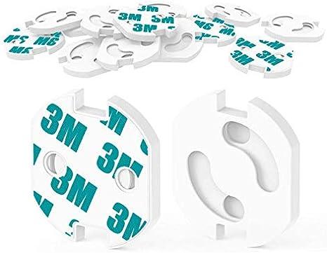 HOMYBABY Kit Seguridad Bebe   Producto Certificado (CE)   Protector de enchufes para bebes y niños [20pcs]   Cubre Enchufes   Tapa enchufes mecanismo de giro + adhesivo 3M   Seguridad bebe: Amazon.es: Bebé