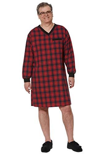 Ovidis Nightshirt for Men - Red | Stewart | Adaptive Clothing - M