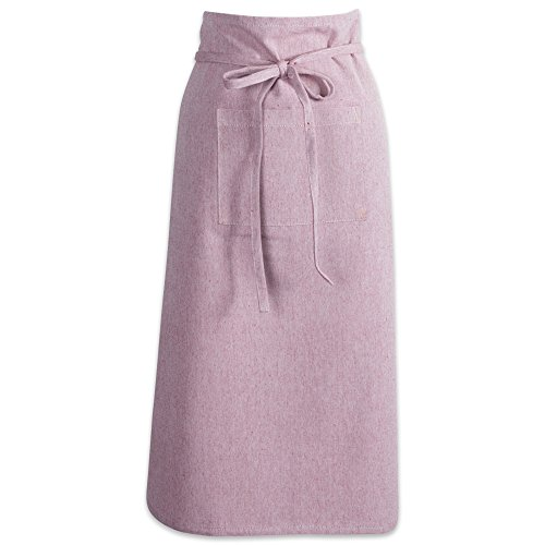 DII Cotton Chambray Bistro Half Waist Apron with Pockets and