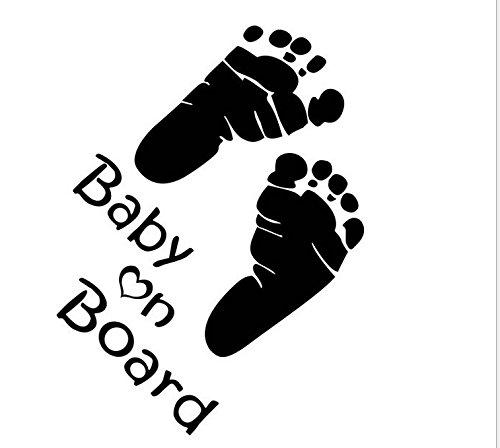 PRIMI Little Baby Fü ß e 'Baby an Bord Aufkleber Autoaufkleber