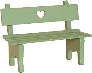 Wansan Mini Wood Bench Miniature Fairy Garden Bench for Home Decoration Outdoor Décor