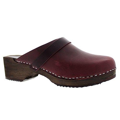 Moheda Womens Emma Leather Sandals Bordeaux