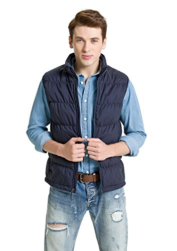 Running Stretch Vest - XPOSURZONE Down Puffer Vest Men Stretch Knit Vest Heather Denim XL