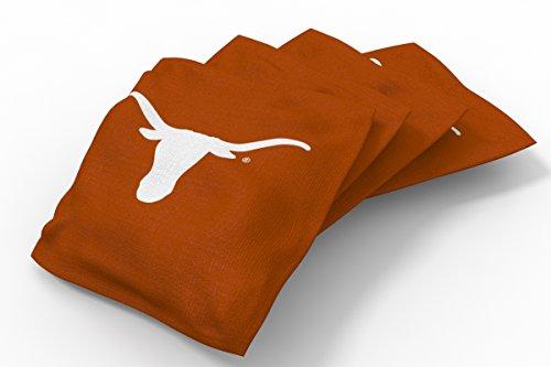 Wild Sports NCAA College Texas Longhorns Orange Authentic Cornhole Bean Bag Set (4 Pack)