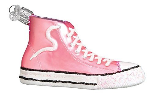 Old World Christmas 32315 Ornament Pink High-Top Sneaker