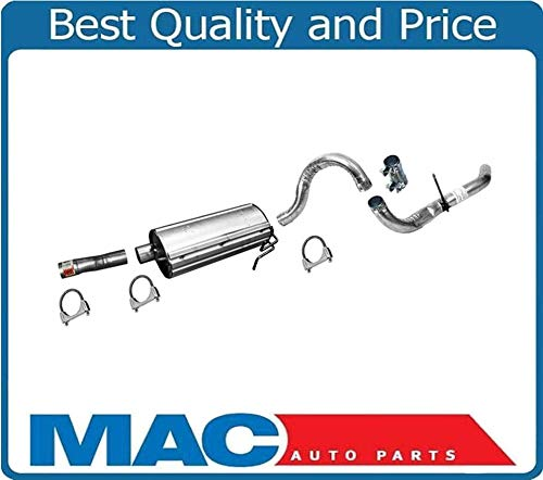 New Muffler & Tail Pipe with Clamps Fits For Ford F250 & F350 Super Duty 2 & 4 Wheel Drive 99 to 04/01/2004