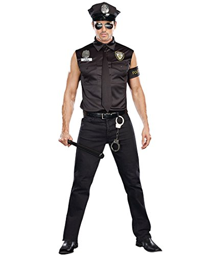 Dirty Cop Officer Ed Banger Costume - Large - Chest Size 42-44 (Officer Ed Banger Costume)