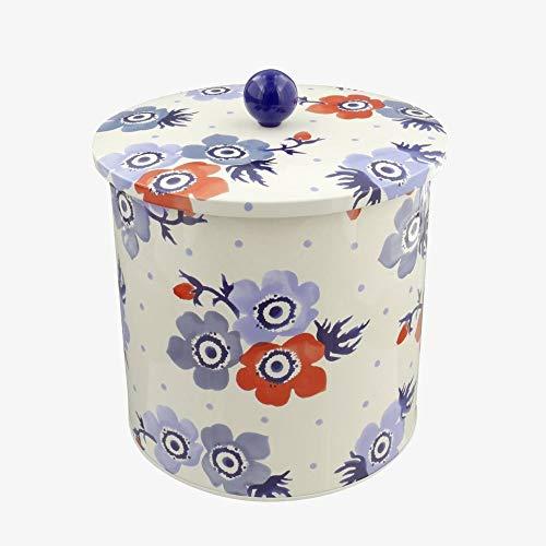 Emma Bridgewater Anemone Biscuit Cookie Barrel Tin Storage Jar Canister
