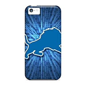 New JDr4000dORS Detroit Lions Skin Case Cover Shatterproof Case For Iphone 5c