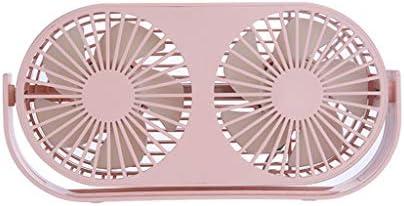 A69Q卓上扇風機 手持ち扇風機 携帯扇風機 ミニファン ミニ扇風機 冷却ファン USBファン ダブルファン ミニデスクトップファン おしゃれ 静音 熱中症 暑さ対策 家庭、部屋、オフィス、アウトドア、旅行に適用 (ピンク)