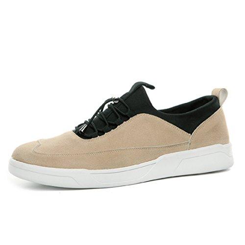 Xiafen Mens Mode Décontracté Confortable Décontracté Appartements Automne Mode Sneaker Beige Jaune
