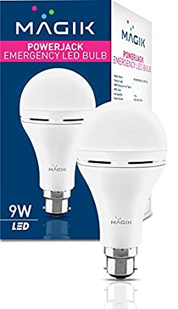 Buy Magik Century Led Limited Powerjack Base B22 Rechargeable Emergency Led Bulb 9 W Cool Daylight White Online At Low Prices In India Amazon In
