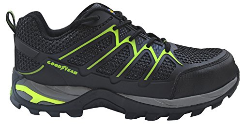 GOODYEAR g138401C–Scarpe con rete in PVC, colore: nero/verde