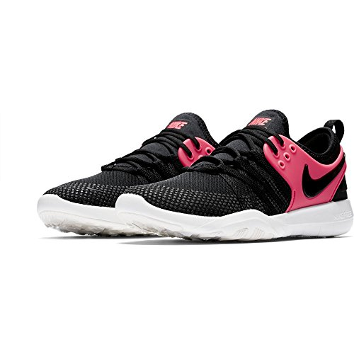 Nike Free Tr 7 Sz 10 Womens Cross Training Black/Black-Solar Red-Summit White Shoes Hknq7