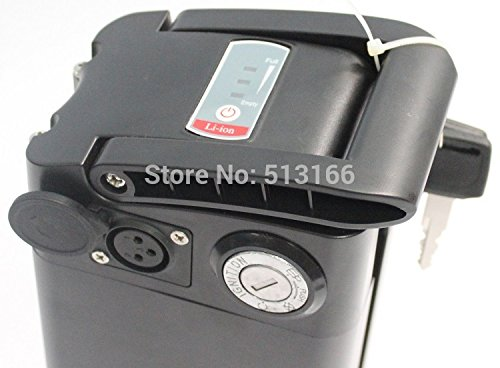 Amazon.com : Hallomotor Electric Bike Lithium Battery Metal Case H22P 24V 22AH Seat Tube Li-ion Polymer Battery Pack For Promotion : Sports & Outdoors