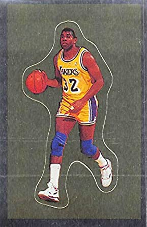 48acc6c40 1991-92 Panini Stickers Basketball  192 Magic Johnson Los Angeles Lakers 2  inch by