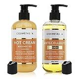 Anti Cellulite Massage Oil & Hot Cream Massage Gel- 100% Natural Cellulite Treatment