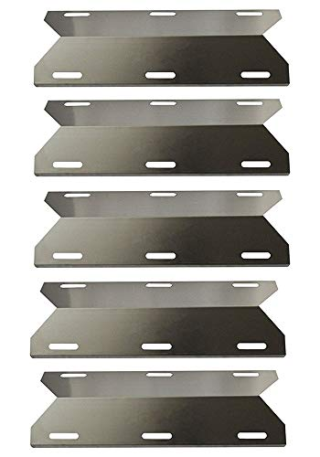 Hongso Gas Grill Stainless Steel Heat Plate for Jenn-Air 720-0061, 730-0337, 720-0336, Nexgrill, Costco Kirland, Glen Canyon, Sterling and Forge, 17 3/4 Inch Heat Shield Burner Cover SPA231 (5-Pack)
