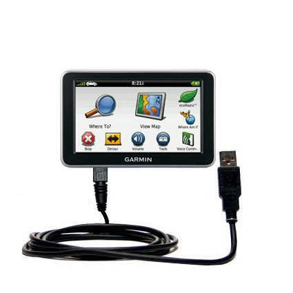 Hot Sync and Charge Straight USB cable for the Garmin Nuvi 2460 2450 – Charge and Data Sync with the same cable. Built with Gomadic TipExchange Technology by Gomadic