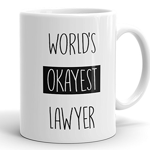Worlds Okayest Lawyer Mug Coworker product image