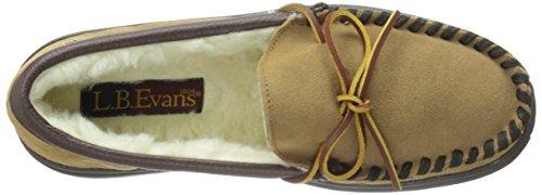 Lb Evans Heren Atlin Boa Slip-on Loafer Slipper Hash Bruin