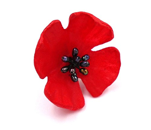 ''Red Poppy'' Tack Pin By Michael Michaud for Silver Seasons… by Michael Michaud (Image #1)