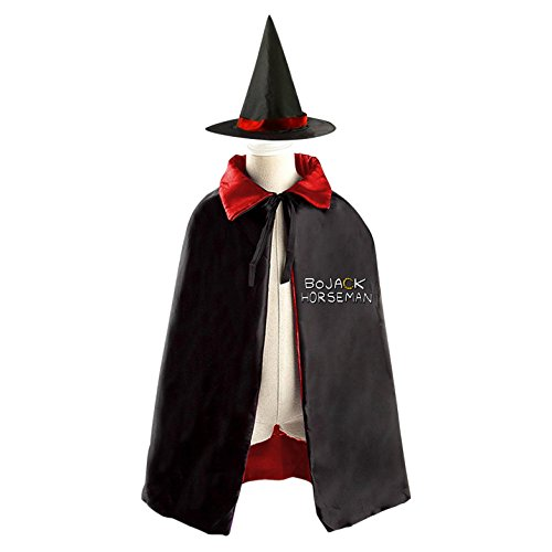 Pinky Witch Costumes (Halloween Costumes Witch Horseman Wizard Reversible Cloak With Hat Kids Boys Girls)
