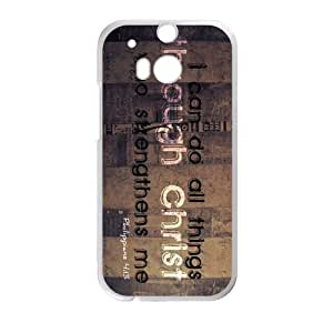 Canting_Good Bible verse I can do all things Custom Case Shell Skin for HTC One M8 (Laser Technology)