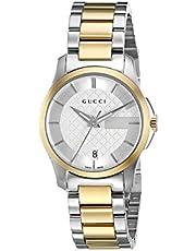 Gucci Women's YA126531 Year-Round Analog Quartz Silver Watch
