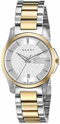 Gucci Swiss Quartz Stainless Steel Dress Two-Tone Women's Watch(Model: YA126531)