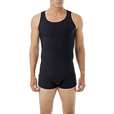 Underworks Mens Microfiber High Performance Compression Tank for Workouts, Sports Training and Shaping