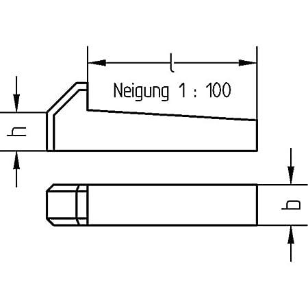 blank Nasenkeile 5x DIN 6887 8x50 Stahl