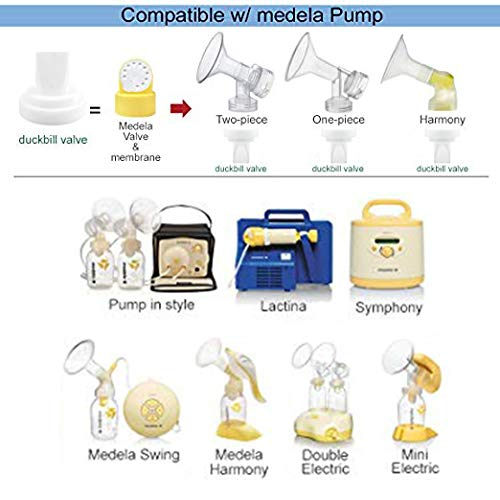 Duckbill Valves for Medela and Spectra, COOLMI Pump Valve for Spectra S1 Spectra S2 Spectra and Medela Pump in Style, Pump Duckbills to Replace Medela Valve and Spectra Valve (6 Pack) by COOLMI (Image #2)