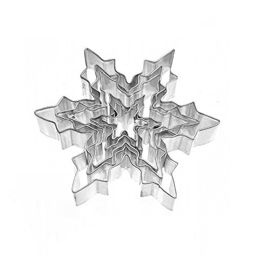 - Tesoar 5Pcs Snowflake Ice Crystal Cookie Cutter