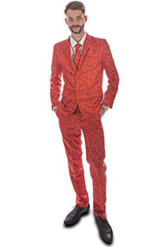 Red R (Adult Shamrock Suit And Tie Costumes)