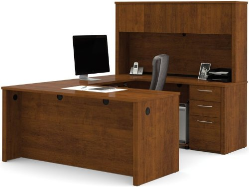 Bestar 60857-1663 Embassy U-shaped worksation kit in Tuscany Brown finish