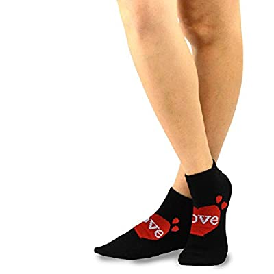 TeeHee Valentine's Day Hearts and Love Women's Cotton No Show Socks 3-Pack