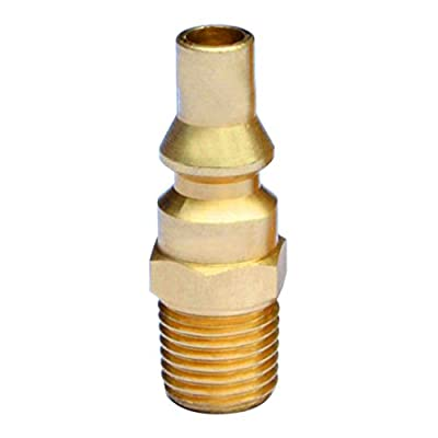 """Stanbroil Propane Brass Quick Connect Fitting Adapter- Full Flow Male Plug x 1/4"""" Male NPT for RV Portable BBQ"""